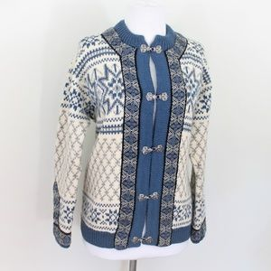Dale of Norway Sweater Nordic Blue Cream Small 40